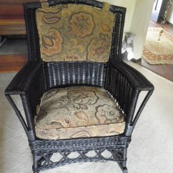 Antique Wicker Chairs Painted Kitchen Reupholstered Rocker Ginny 39s Windows
