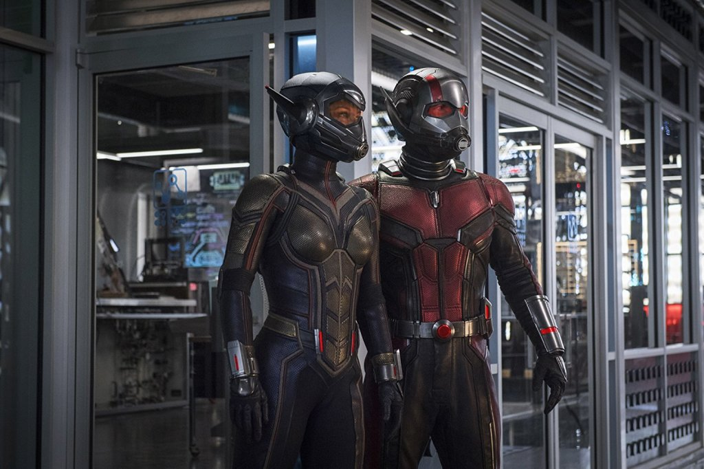 "Paul Rudd and Evangeline Lily as ""Ant-Man and The Wasp"""