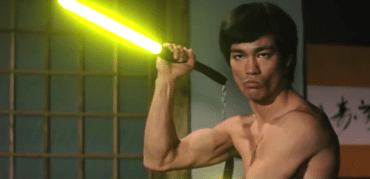 Bruce Lee with Lightsabres