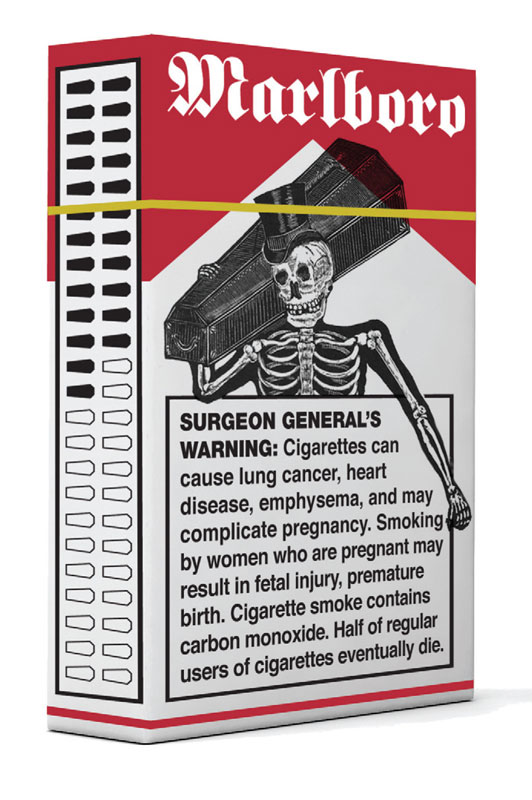 Cigarette Warnings Design How Scary Are You? Ginva