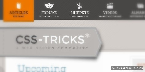 website menu design 2