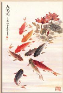 affordable koi fish painting