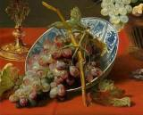 """Frans Snyders, """"Still Life with Grapes and Game"""", detail (1630)"""