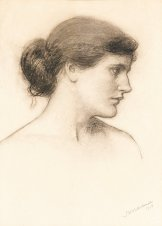 """John William Waterhouse, """"Head Study, probably for a Tale from the Decameron"""" (1915)"""