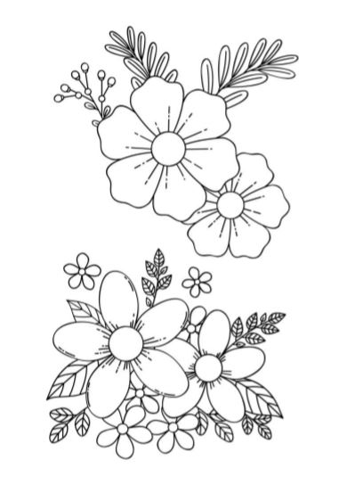 Disegni Di Fiori Semplici Da Colorare : disegni, fiori, semplici, colorare, Fiori, Colorare:, Stampa, Gratis, Disegni, Bianco