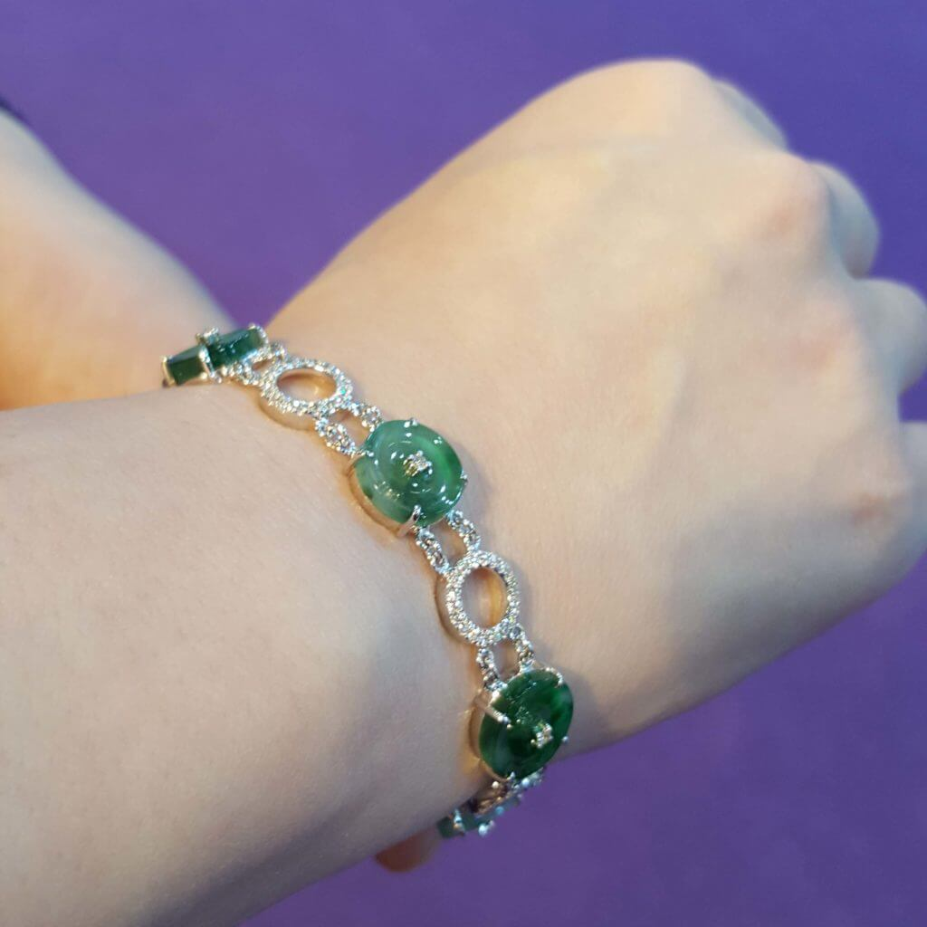 customised jade bracelet and
