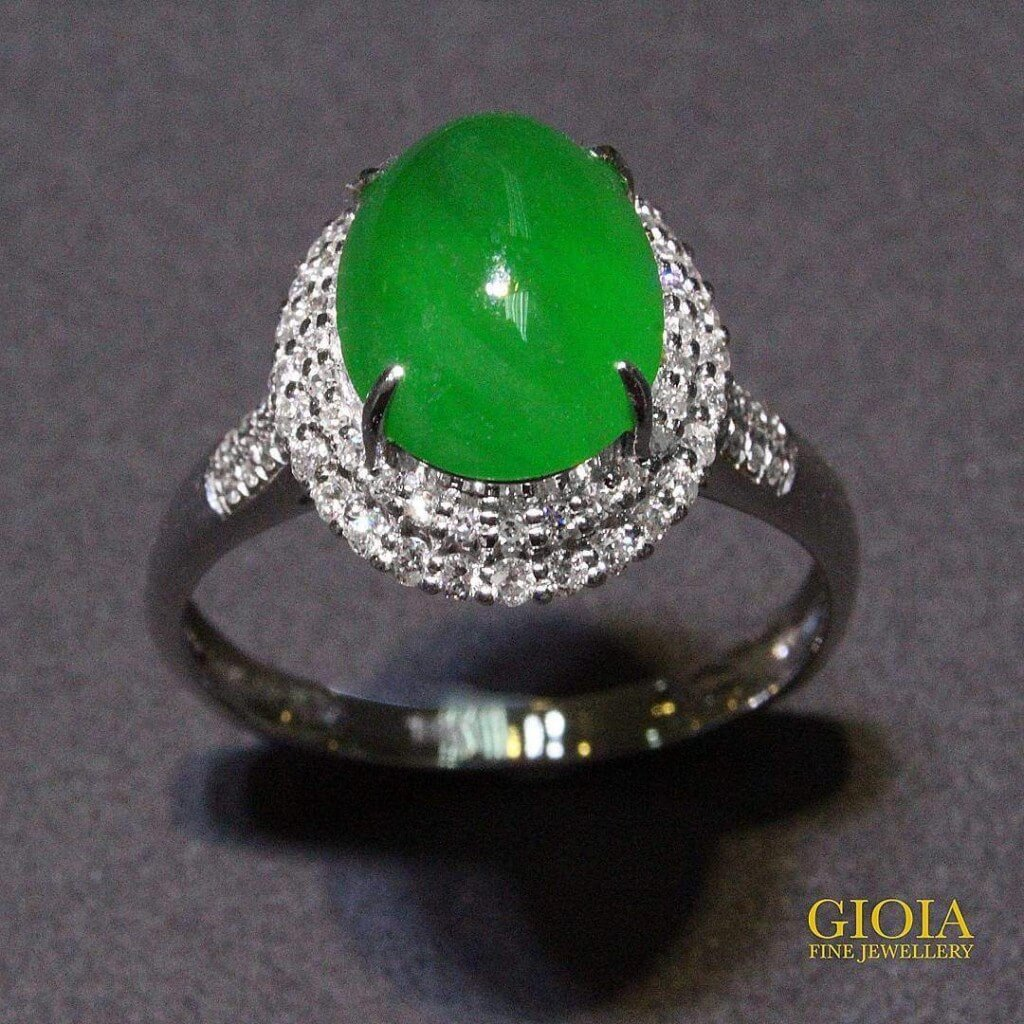 Green Jade Ring - Customised jade jewellery