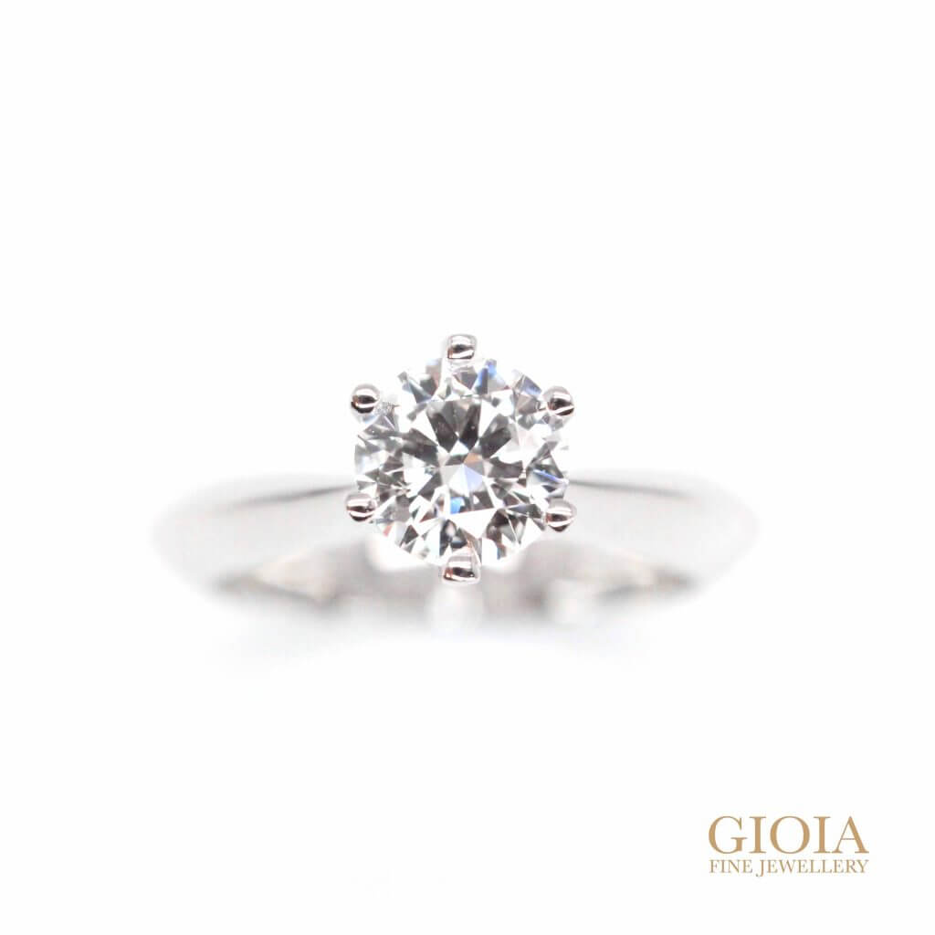 6 prong solitaire diamond - ideal diamond with eight hearts & 8 arrow diamond | Local Singapore Custom made jeweller