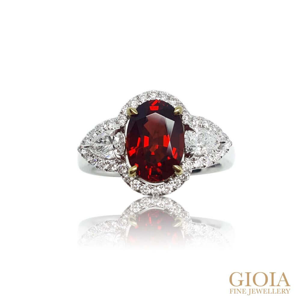 Vivid Red Spinel Ring - Looking for Red Spinel or Ruby Gemstone ring? Local Singapore Customised Jeweller