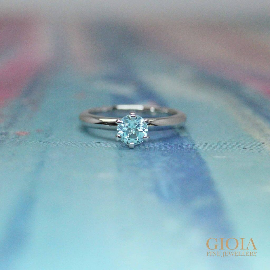 Paraiba tourmaline Wedding Ring for unique proposal - Customised Engagement ring with coloured gemstone | Local Singapore Trusted customised Jeweler