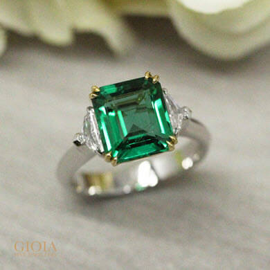 simulated old vintage signet products mens preadored stock gold emerald ring new to