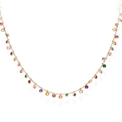 COLLANA DA DONNA AMEN CHANDELIER MULTICOLOR cod. clmrm3