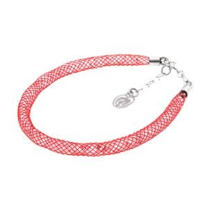 Bracciale-rosso-argento-cristalli