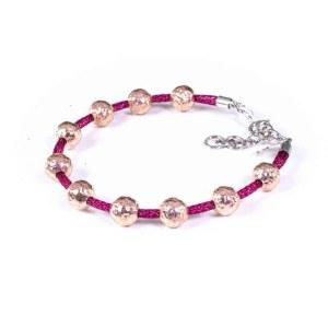 bracciale mars con sfere in argento rosato
