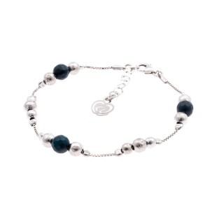 Bracciale argento 925 agata blu