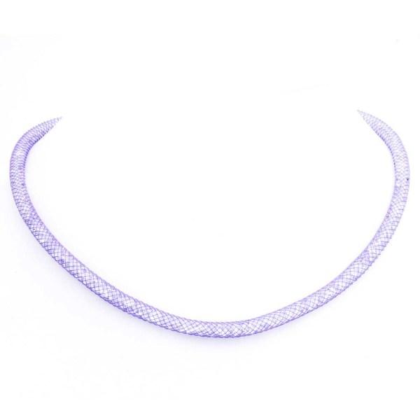 Collana Lilla con cristalli luminosi in argento 925