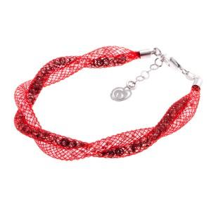 Bracciale-argento-rosso-intrecciato