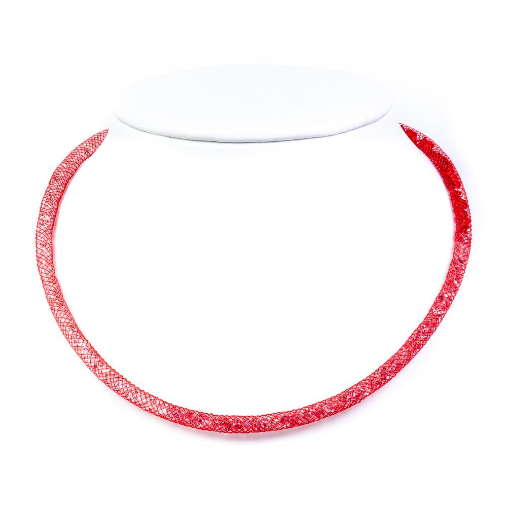 collana girocollo arcobaleno rosso