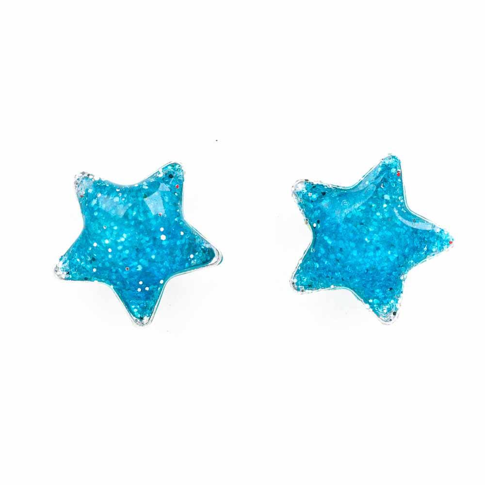 orecchino argento smalto azzurro