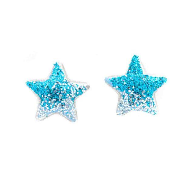 orecchino stella turchese