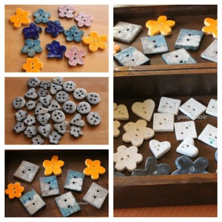 collage bottoni raku