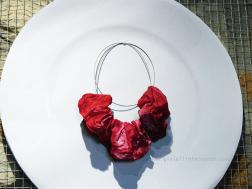 Lucilla Giovanninetti Onde Waves collana, viscosa, resina, acciaio necklace, viscose, resin, steel