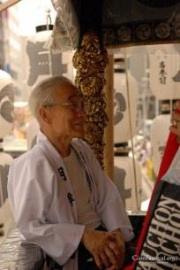 tsuki boko elder smiling gion festival kyoto japan