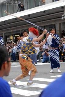 ayagasa boko dancing gion festival procession kyoto japan