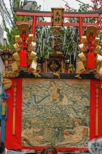 arare tenjin yama torii shinto shrine gobelin gion festival kyoto japan