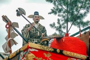 hakuga yama bo ya statue koto qin gion festival kyoto japan