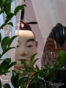 iwato yama amaterasu omikami deity statue visage gion festival kyoto japan