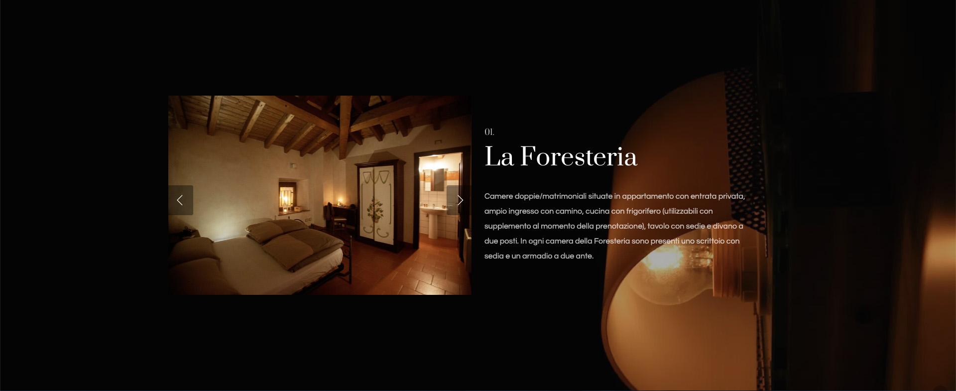 Giorgi Design Studio - Monastero San Erasmo - Web Design - La Foresteria