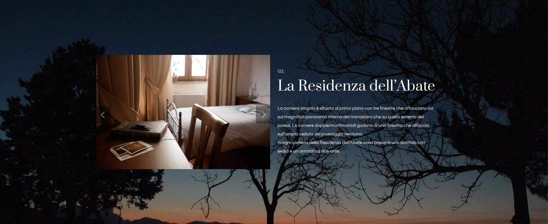 Giorgi Design Studio - Monastero San Erasmo - Web Design - La Residenza dell'Abate
