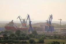 Le chantier naval de Tulcea.