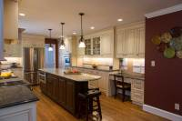 Maroon Kitchen Walls in Wilmington, Delaware