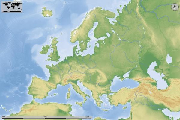 Cartina Fisica Muta.Italia Cartina Europa Vtwctr