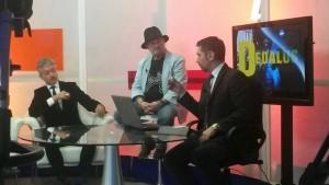 Vito in una trasmissione TV