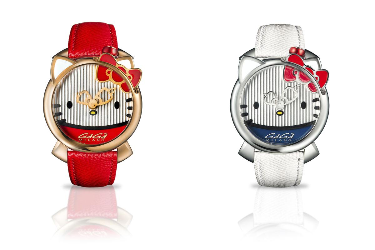 I due orologi di GaGà Milano x Hello Kitty