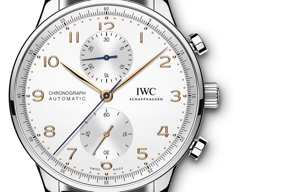 IWC Portugieser Chronograph close-up