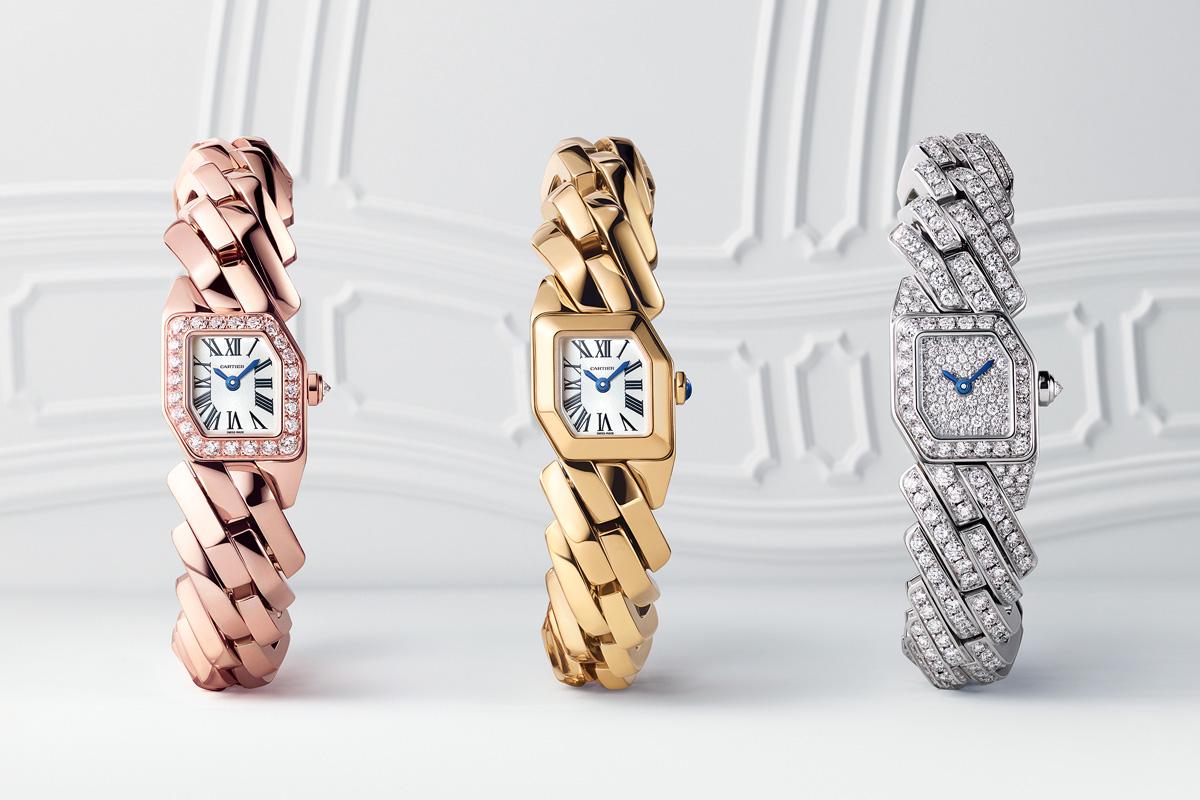 Tre versioni del Maillon de Cartier