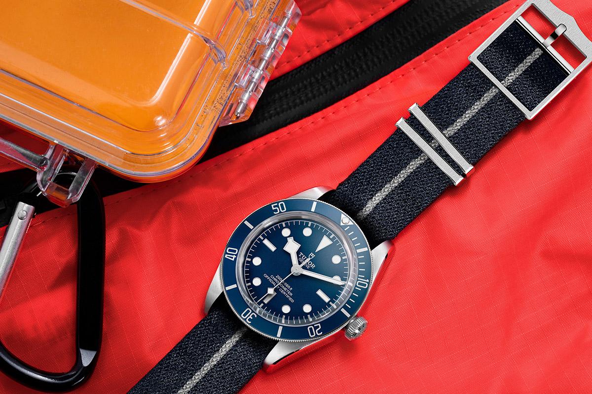 "Tudor Black Bay Fifty‑Eight ""Navy Blue""con cinturino in tessuto sintetico"