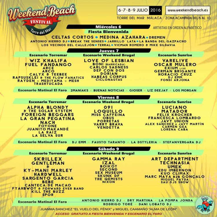 WeekendBeach Festival 2016 GIOSER