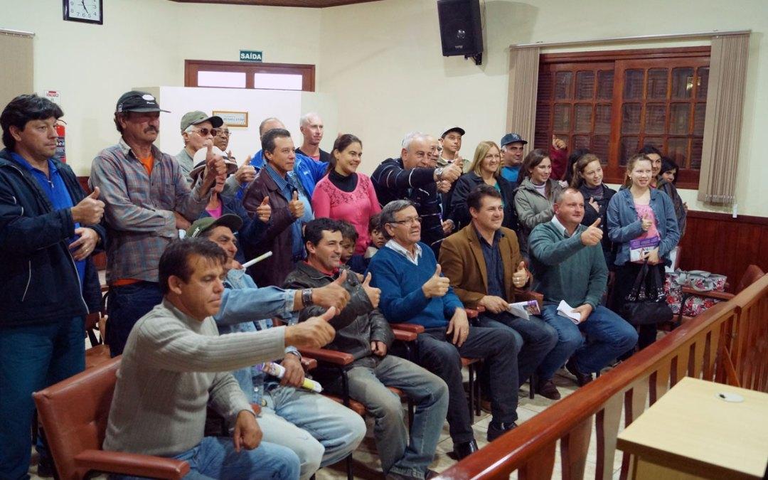 Giovani Cherini entrega emenda para agricultura em Hulha Negra
