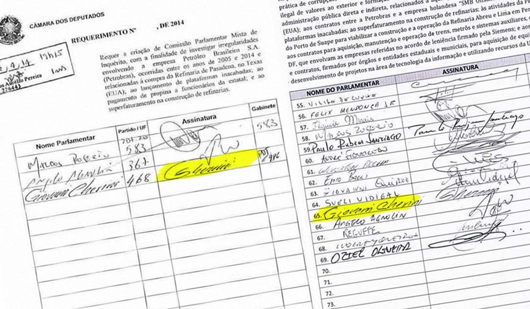 Giovani Cherini assinou o pedido de CPI da Petrobrás