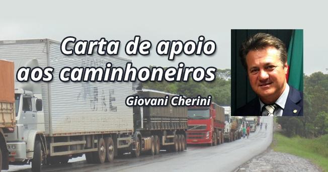 Carta de apoio aos caminhoneiros