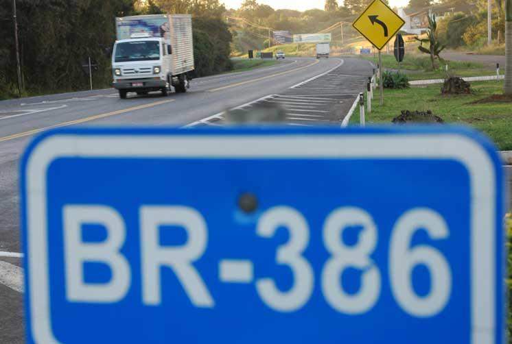 BR 386: Velocidade máxima de 100 km/h será implantada até o final do ano