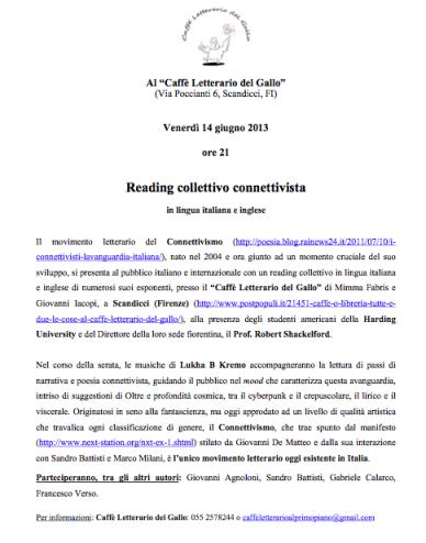 Reading Gallo 14 giugno 2013