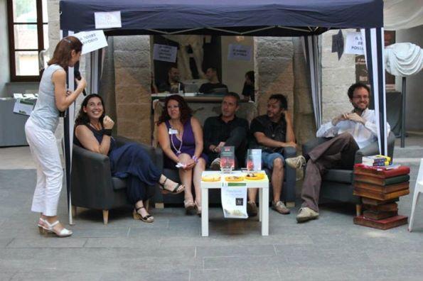 """A """"Fantasya"""" (Formello, Roma) con (da sin.) Silvia Zanini, Monica Serra, Dario Tonani e Luca Tarenzi."""