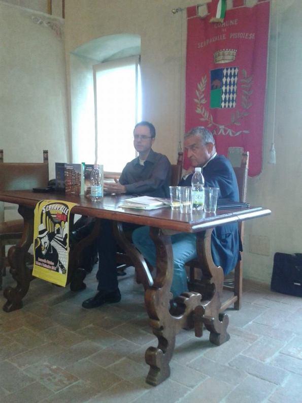 """Presentazione di """"Partita di anime"""" a """"Serravalle Noir 2014"""", con Giuseppe Previti (6 settembre 2014)"""
