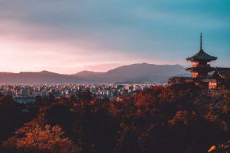 kyoto panoramic view